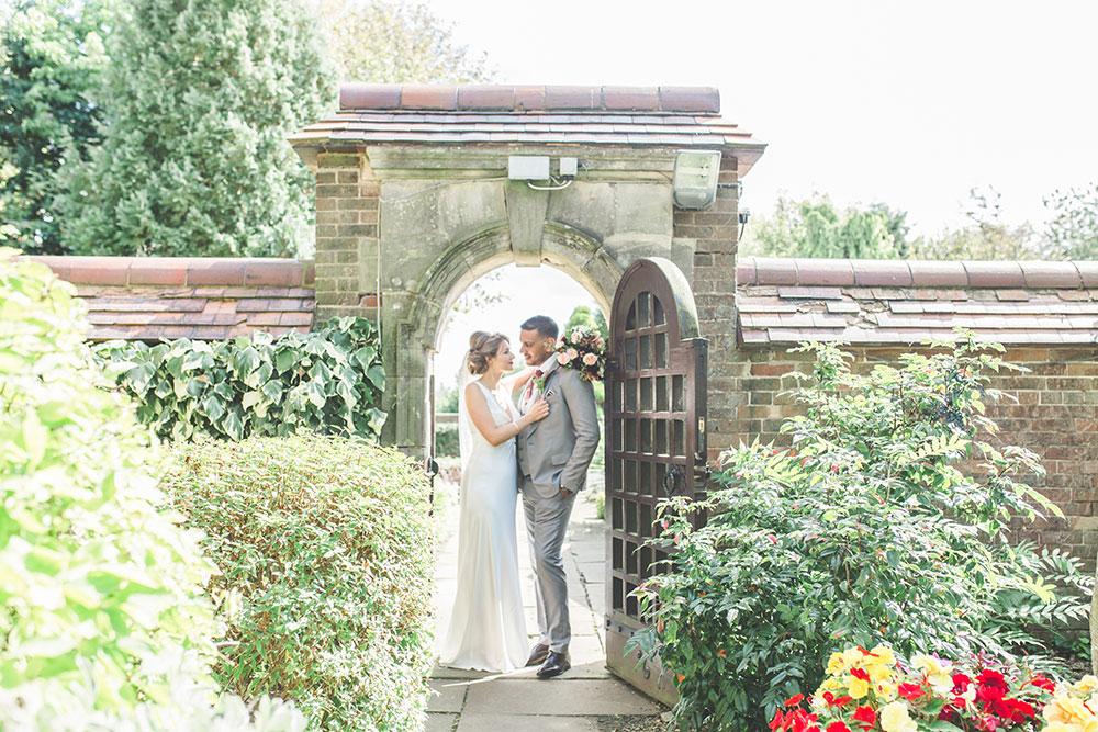 Dunchurch Park Hotel Wedding, Couple Portrait, Bride Wears Charlie Brear Dress