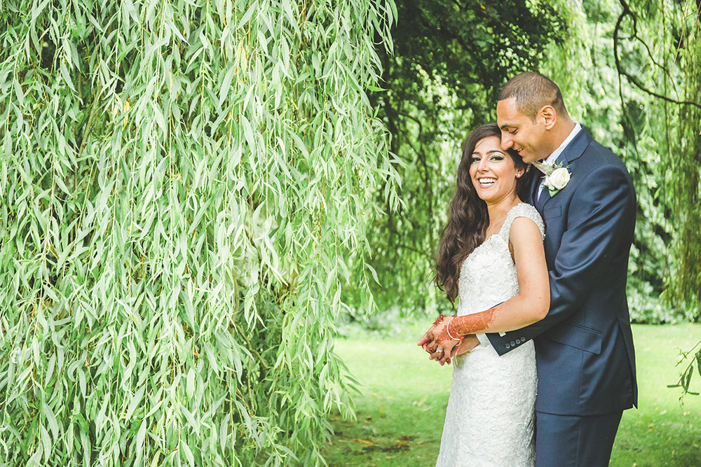 Multicultual Couple, Outdoor Civil Wedding at Pendrell Hall