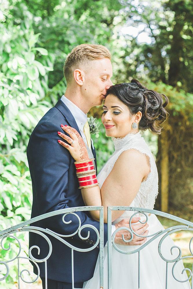 Fusion Wedding Couple Portraits at Pendrell Hall Wedding Venue, Staffordshire