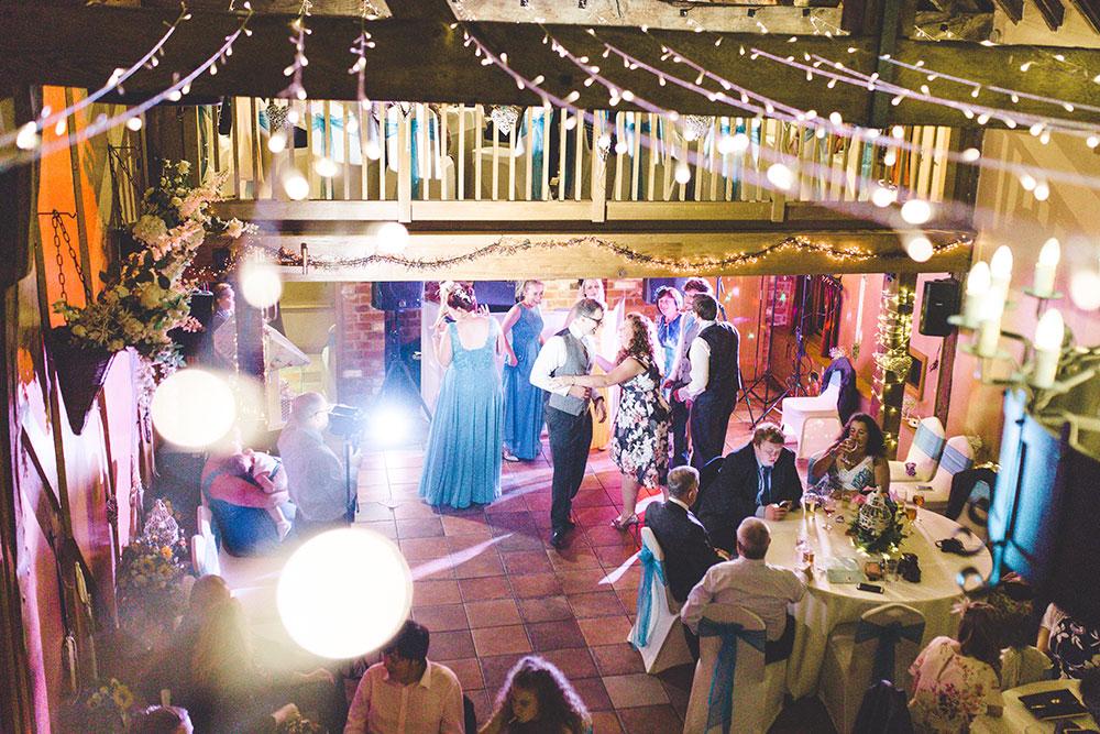 Barn Wedding fairy lights in Warwickshire