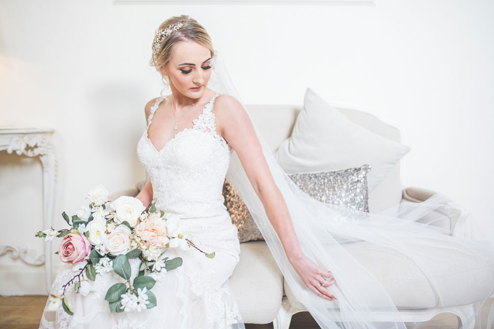 Bride Portrait in Stella York Wedding Dress, Alrewas Hayes