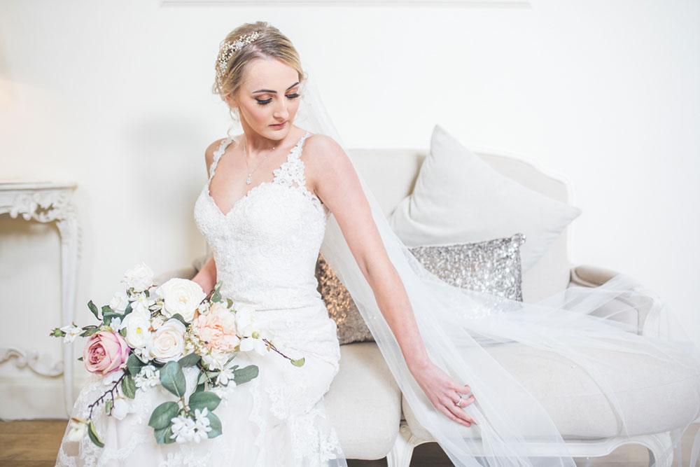 Bride Portrait in Stella York Wedding Dress, Alrewas Hayes