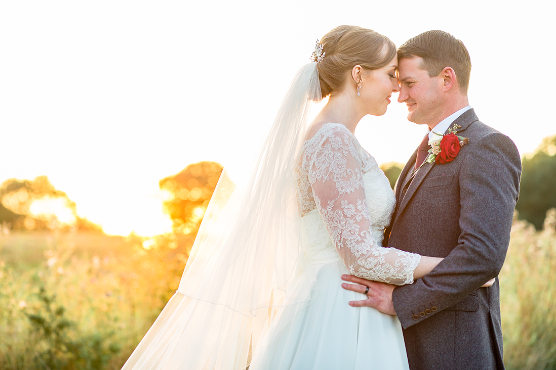 Bride and Groom after their Wedding at Wethele Manor in Leamington Spa