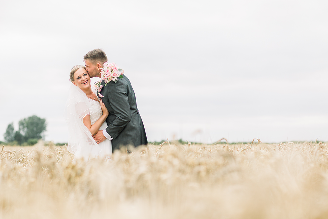 Bride and Groom Boho Wedding Couples Portrait