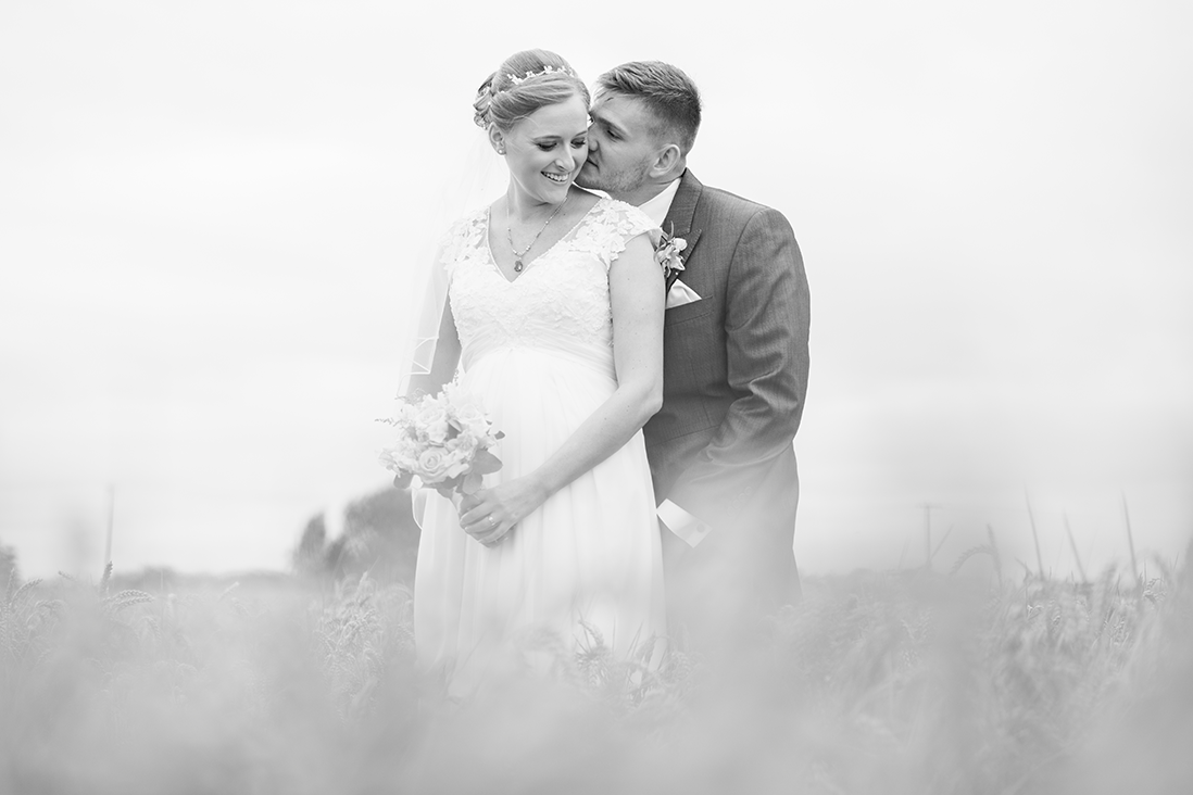 Bride and Groom Black and White Portrait after their Wedding in Nuneaton