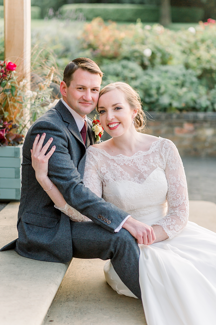 Bride and Groom Portrait after their Outdoor Wedding at Wethele Manor
